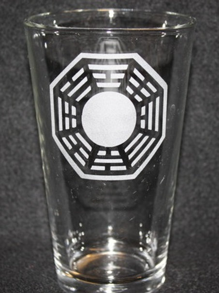 Lost Dharma Initiative Pint Glass
