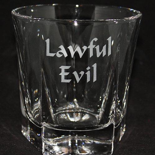 Lawful Evil Rocks/Whiskey Glass
