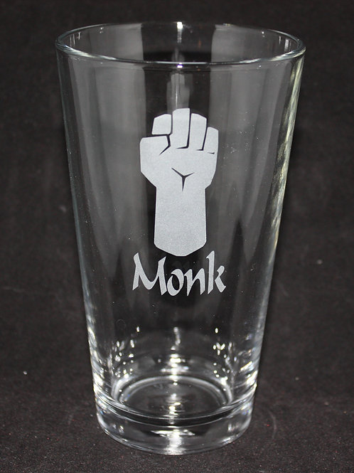 Monk Character Pint Glass