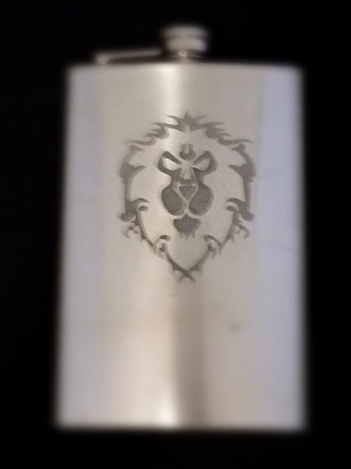 World of Warcraft WOW Alliance Metal Flask