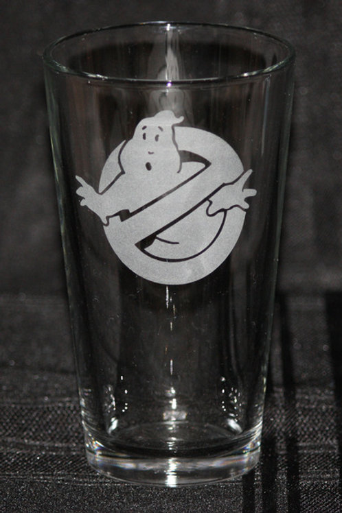 Ghostbusters Symbol Pint Glass