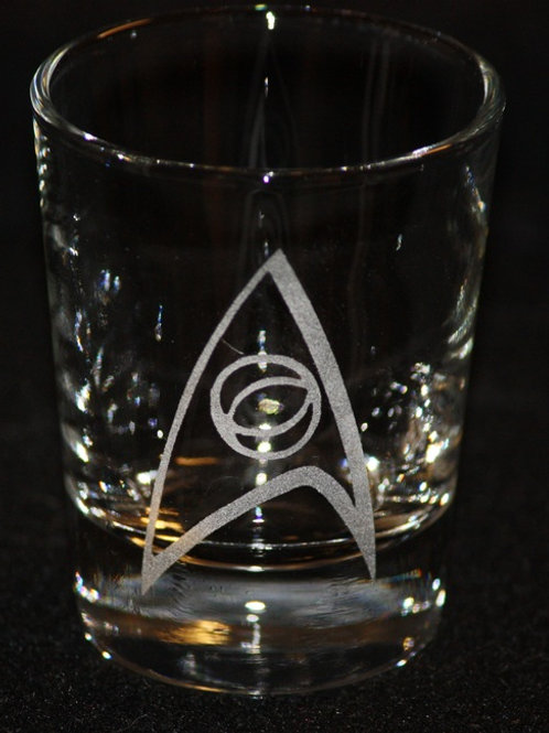 Star Trek Science Symbol Shot Glass