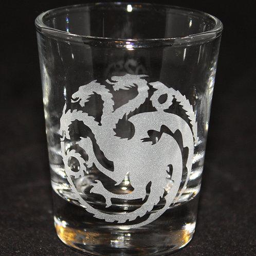 Game of Thrones House Targaryen Shot Glass