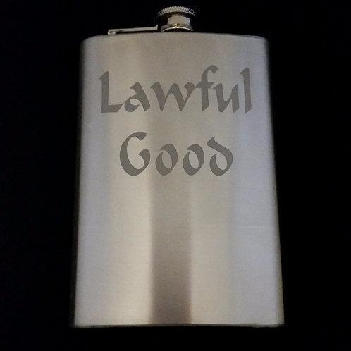 Lawful Good Metal Flask