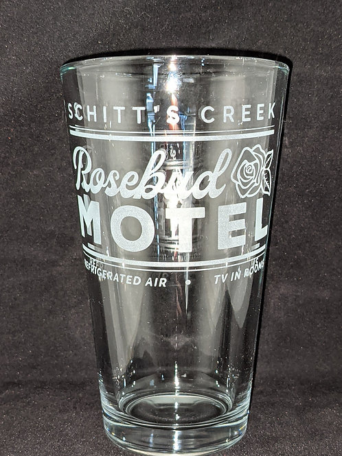 Schitt's Creek Rosebud Motel Pint Glass