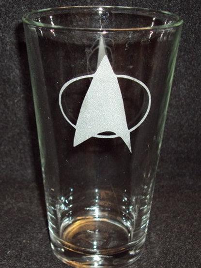 Star Trek Star Fleet TNG Symbol Pint Glass