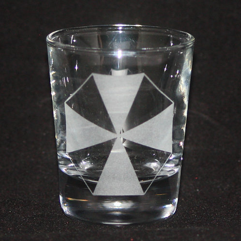 Resident Evil Umbrell Corp. Symbol Shot Glass