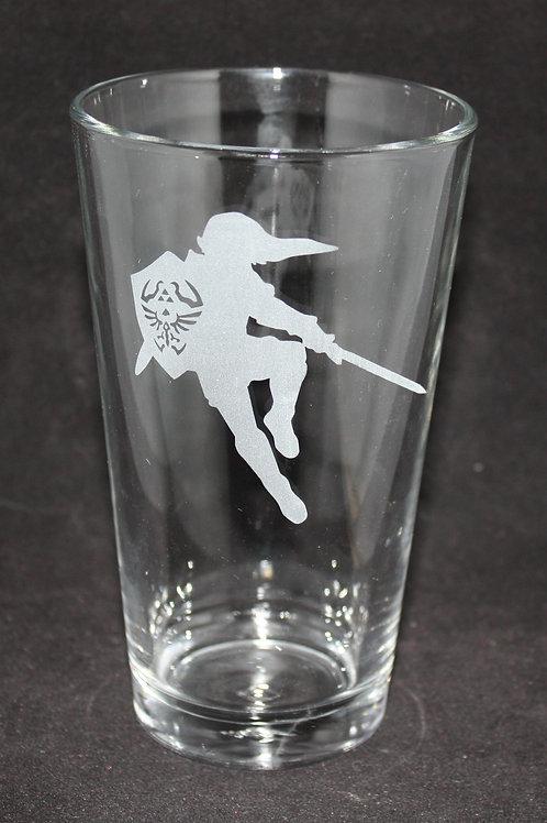 Legend of Zelda Link Silhouette Pint Glass