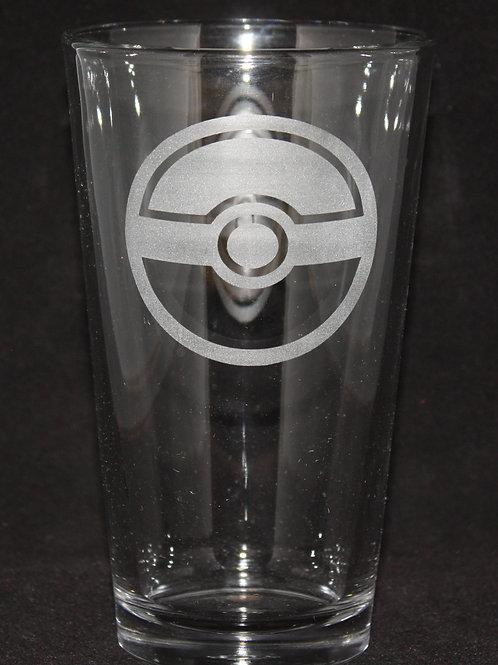 Pokemon Pokeball Pint Glass