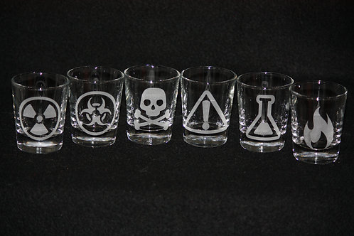 Mad Scientist Shot Glass Set of 6