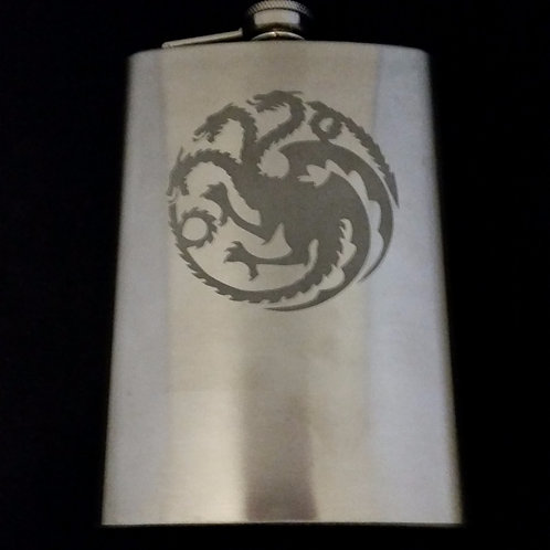 Game of Thrones House Targaryen Metal Flask