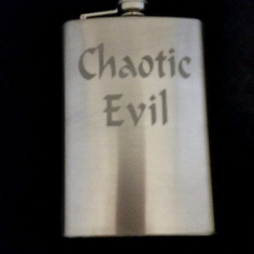 Chaotic Evil Metal Flask