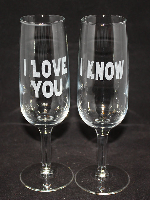 Star Wars Themed Champagne Flutes