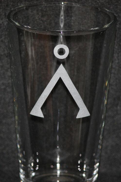 Stargate SG-1 Earth Symbol Pint Glass