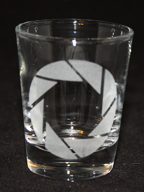 Portal Aperture Symbol Shot Glass