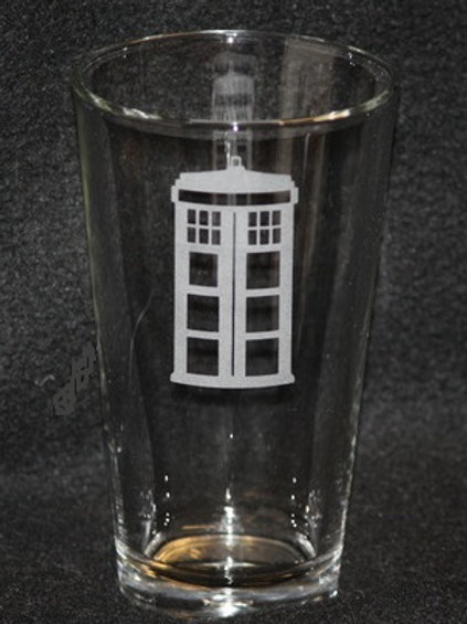 Doctor Who Tardis Pint Glass