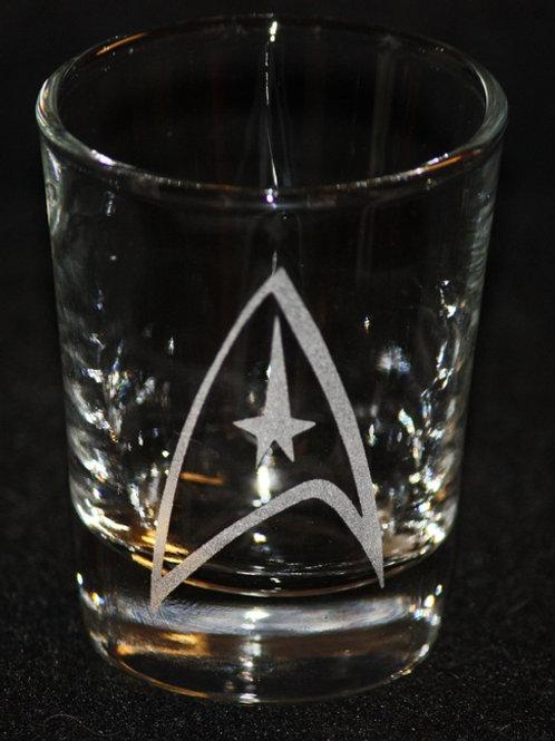 Star Trek Command Symbol Shot Glass