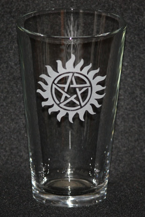 Supernatural Anti-Possession Symbol Pint Glass