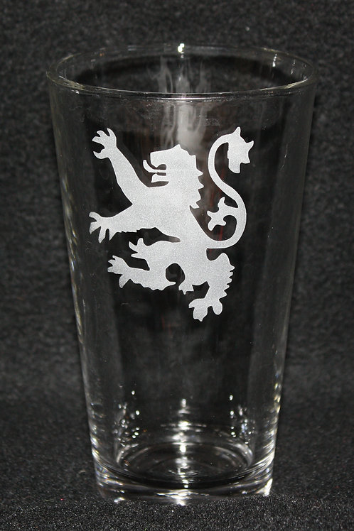 Game of Thrones House Lannister Pint Glass