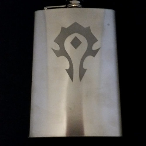 World of Warcraft WOW Horde Metal Flask