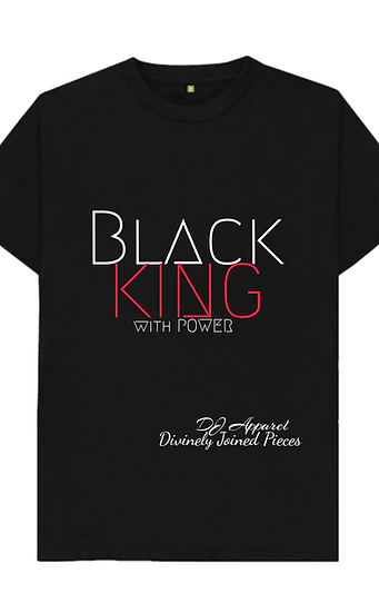 Black KING with POWER tee