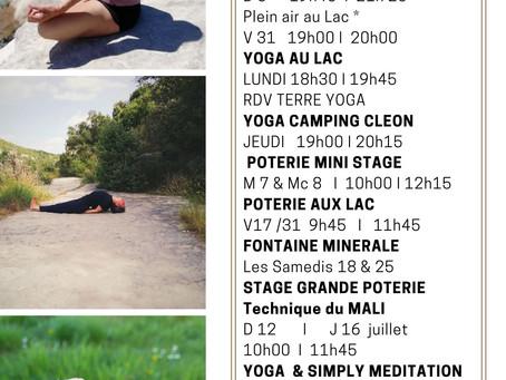 Terre et Yoga  cet été  en Drôme