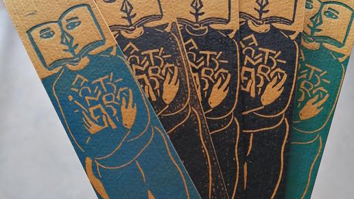 Marque Page série 3,  Linogravure Origin