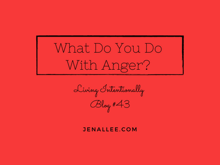 Blog #43 What Do You Do With Anger?