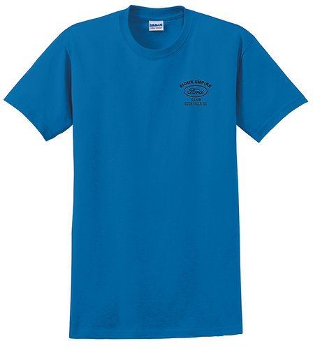 Sapphire T Shirt with Left Chest and Back logo