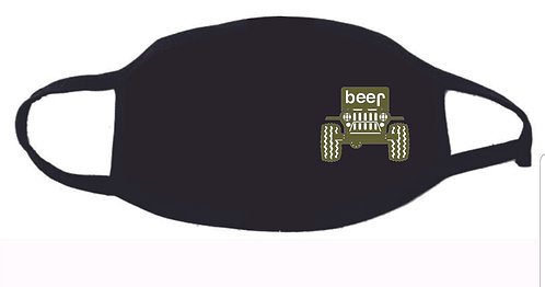 Jeep Beer Face Mask