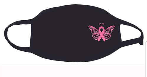 Breast Cancer Butterfly Facemask