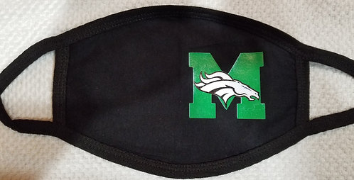Memorial Mustangs Face Mask