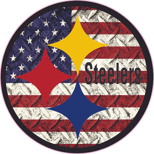 Steelers Helmet Decal with Diamond Flag