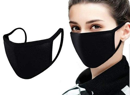 Black Plain Face Mask