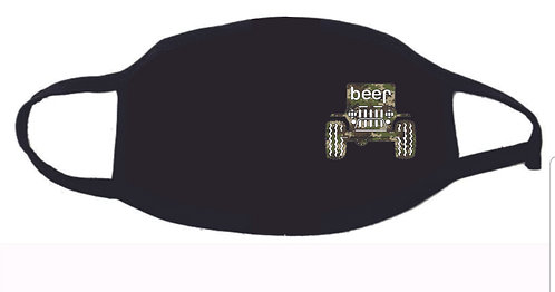 Jeep Beer Camo Face Mask