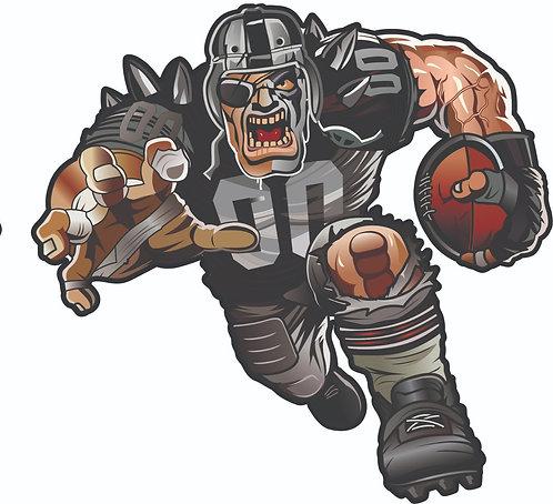 Raider Guy Football Helmet Decal Set