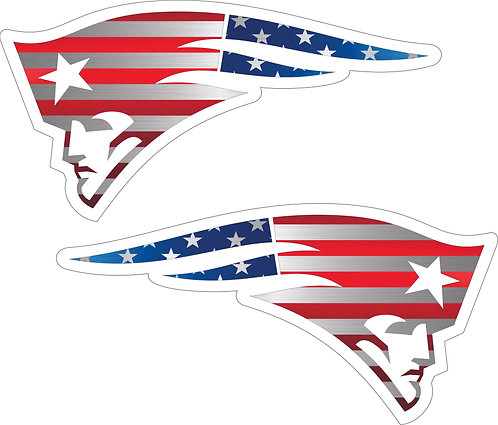 Patriots Chrome Flag Helmet Decals