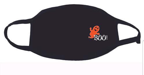 Boo Orange Ghost Face Mask