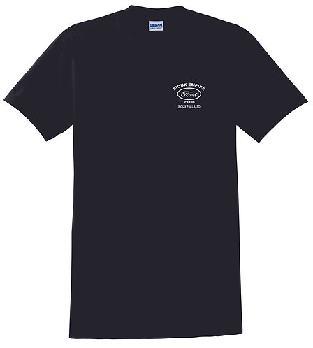 Black T Shirt with Left Chest Logo