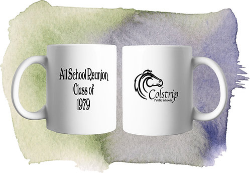 11 ounce White Coffee Mug with Colstrip Reunion Logo