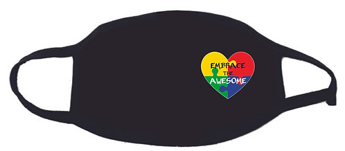 Autism Heart Embrace the Awesome Face Mask