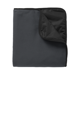 Fleece & Poly Travel Blanket with Embroidered Logo  TB850