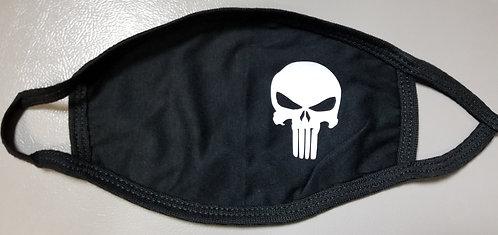 White Punisher Knit Face Mask
