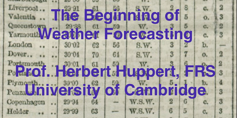 """""""The beginning of Weather Forecasting"""""""