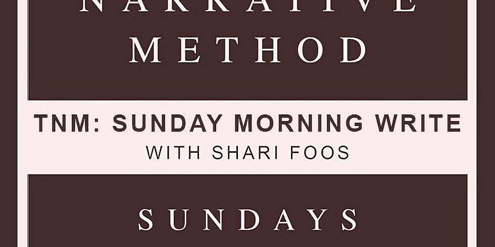 TNM: Sunday Morning Write with Shari Foos
