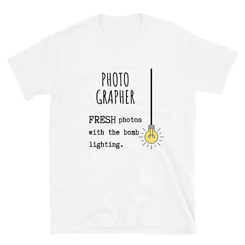 Photographer Bomb Lighting Short-Sleeve Unisex T-Shirt