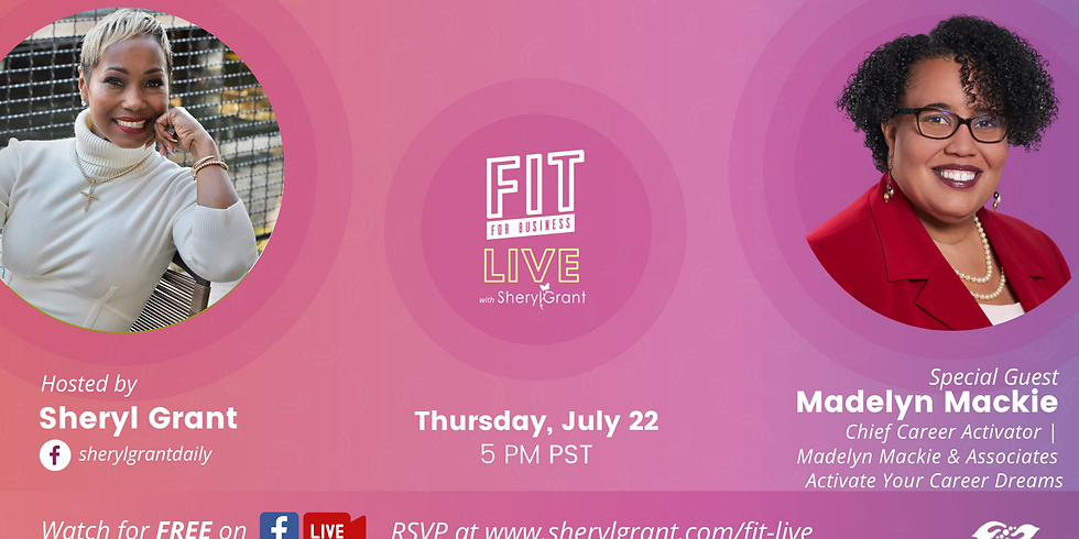 """FIT LIve! Learning how to """"Activate Your Career Dreams"""" w/Certified Career Coach Madeline Mackie"""
