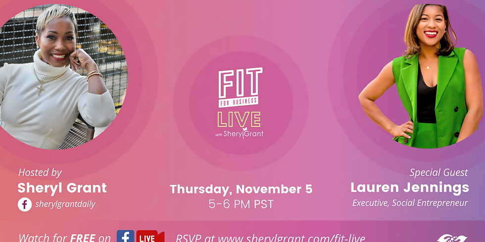 """FIT LIVE! Talking """"The Intersection of Career and Passion"""" with Executive and Social Entrepreneur, Lauren Jennings!"""