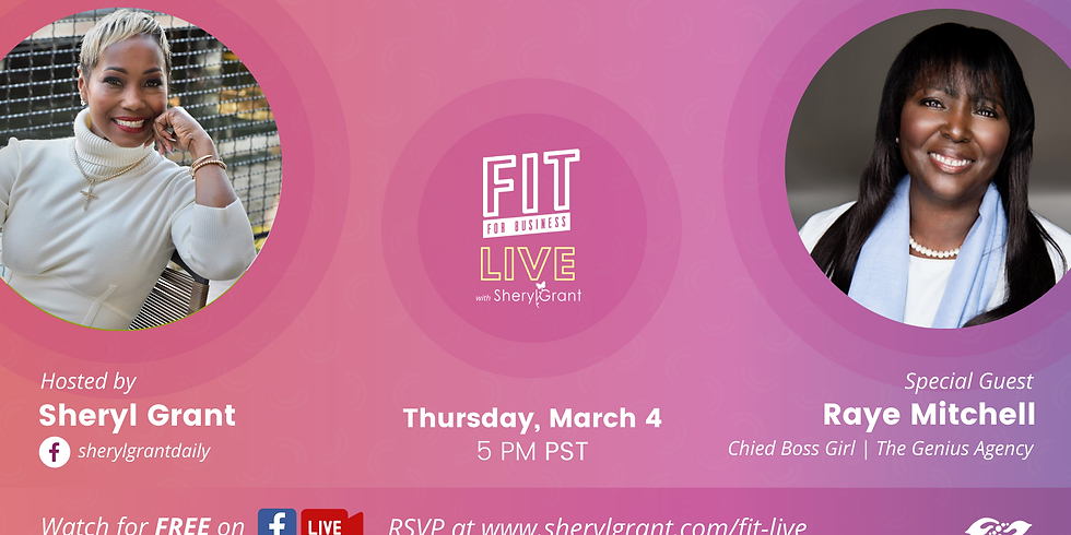 """FIT LIVE! Talking """"Innovation within Entrepreneurship"""" with the Chief Boss Girl of The Genius Agency, Raye Mitchell!"""