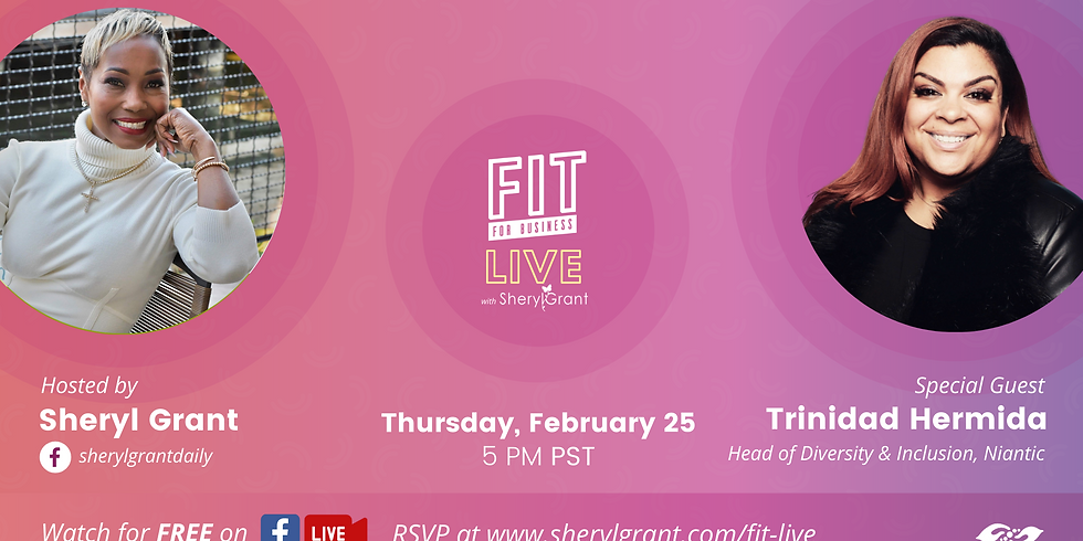 """FIT LIVE! Talking """"The Intersection of Creative & Corporate"""" with Head of D&I for Niantic, Trinidad Hermida!"""